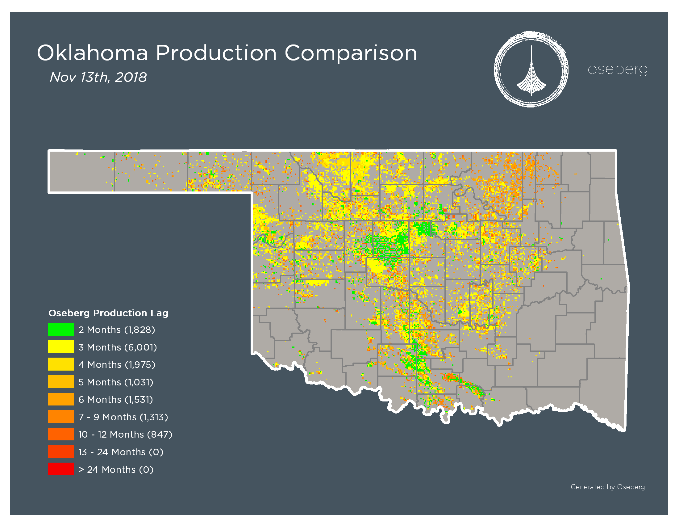 Press Release: Oklahoma Production Dataset Acquired by Oseberg Offers Early Insight Into Well Performance - Critical for Shale Evaluation